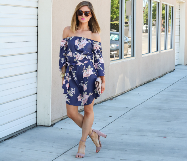 groopdealz off the shoulder floral dress