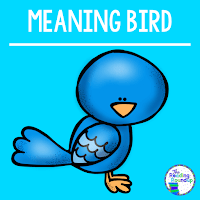 The Reading Roundup - Decoding Secret - Beanie Baby Reading Strategies - Meaning Bird