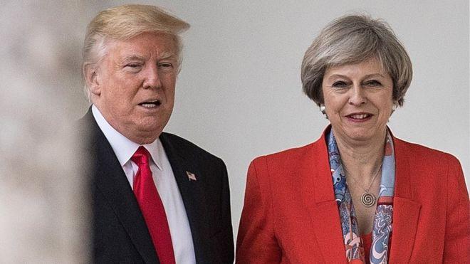 Trump hits out at UK PM Theresa May after far-right video tweets