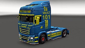 Fallout Vault 101 skin for Scania RJL