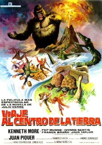 Viaje al centro de la Tierra, Juan Piquer Simon, J. P. Simon, Julio Verne, Kenneth More, The Fabulous Journey to the Center of the Earth, Jules Verne
