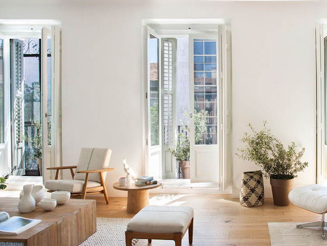 An airy apartment in Madrid