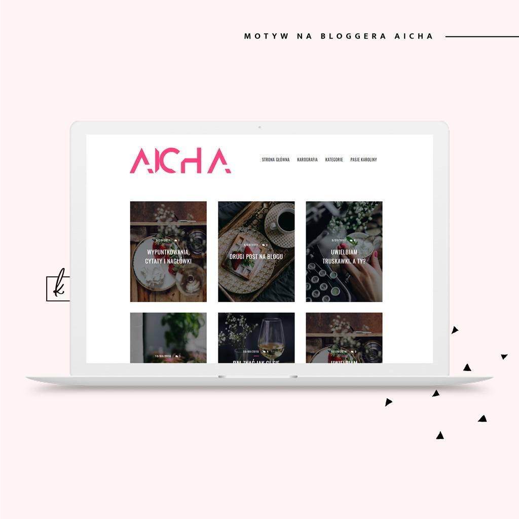 Kafelkowy szablon na bloggera (blogspota) AICHA!