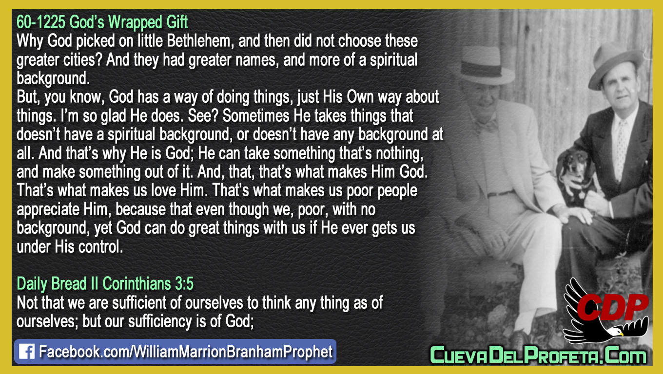 God can do great things with us - William Branham