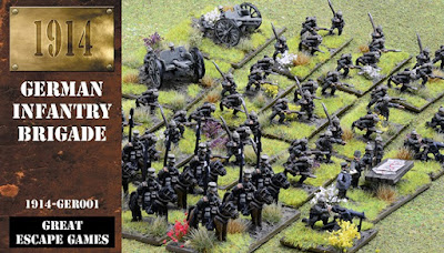 12mm 1914 German Infantry Brigade from Great Escape Games