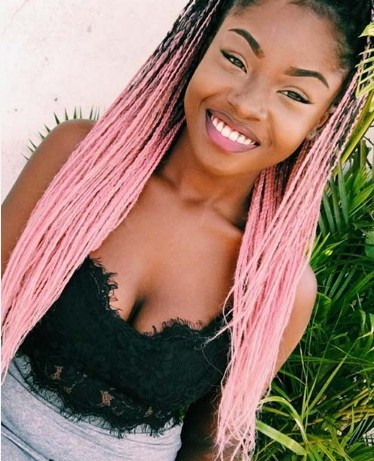Pink & Trendy Tree Braids