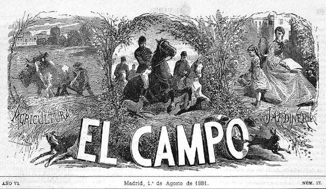 Cabecera de la publicación quincenal El Campo