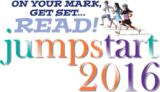 Jumpstart Logo: On  Your Mark, Get Set... READ! jumpstart 2016
