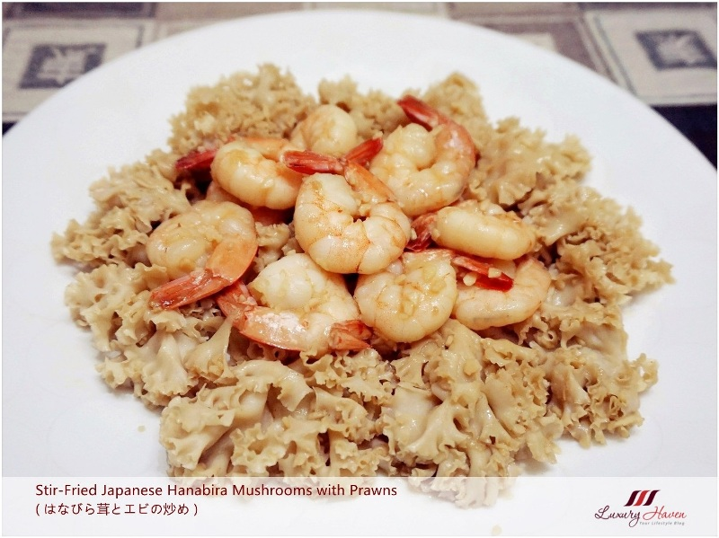 linkedin stir fried japanese hanabira mushrooms with prawns