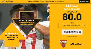betfair supercuota Sevilla gana Lazio 14 febrero 2019