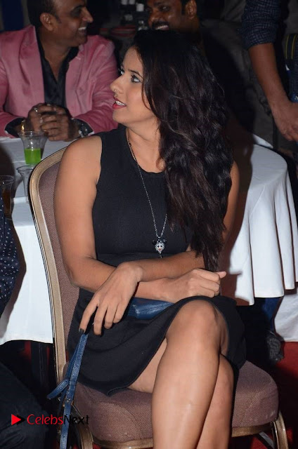 Telugu Tollywood Actress Shravya Reddy Stills in Black Short Dress at Shiva to Vangaveeti RGV Journey Event  0003.jpg