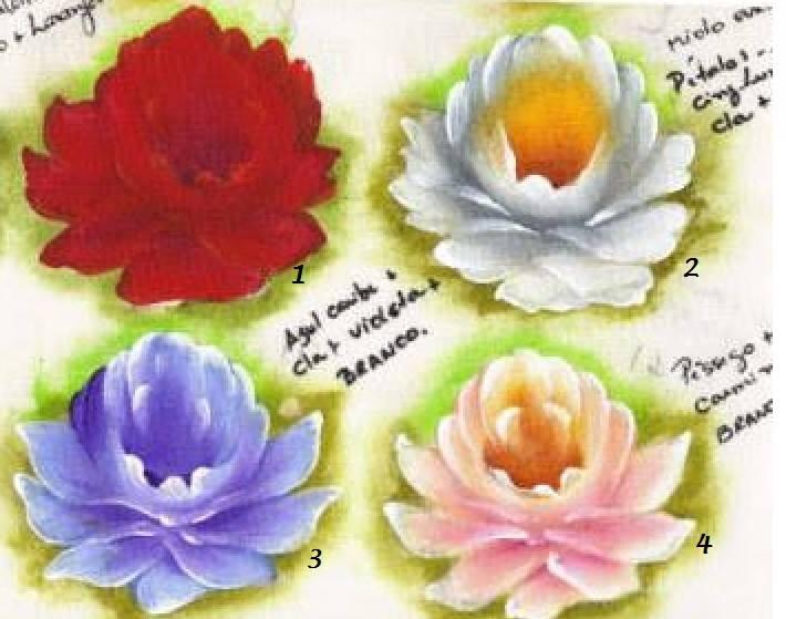 pintura em tecido rosas pap