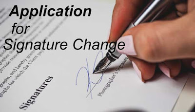 application for signature change in bank