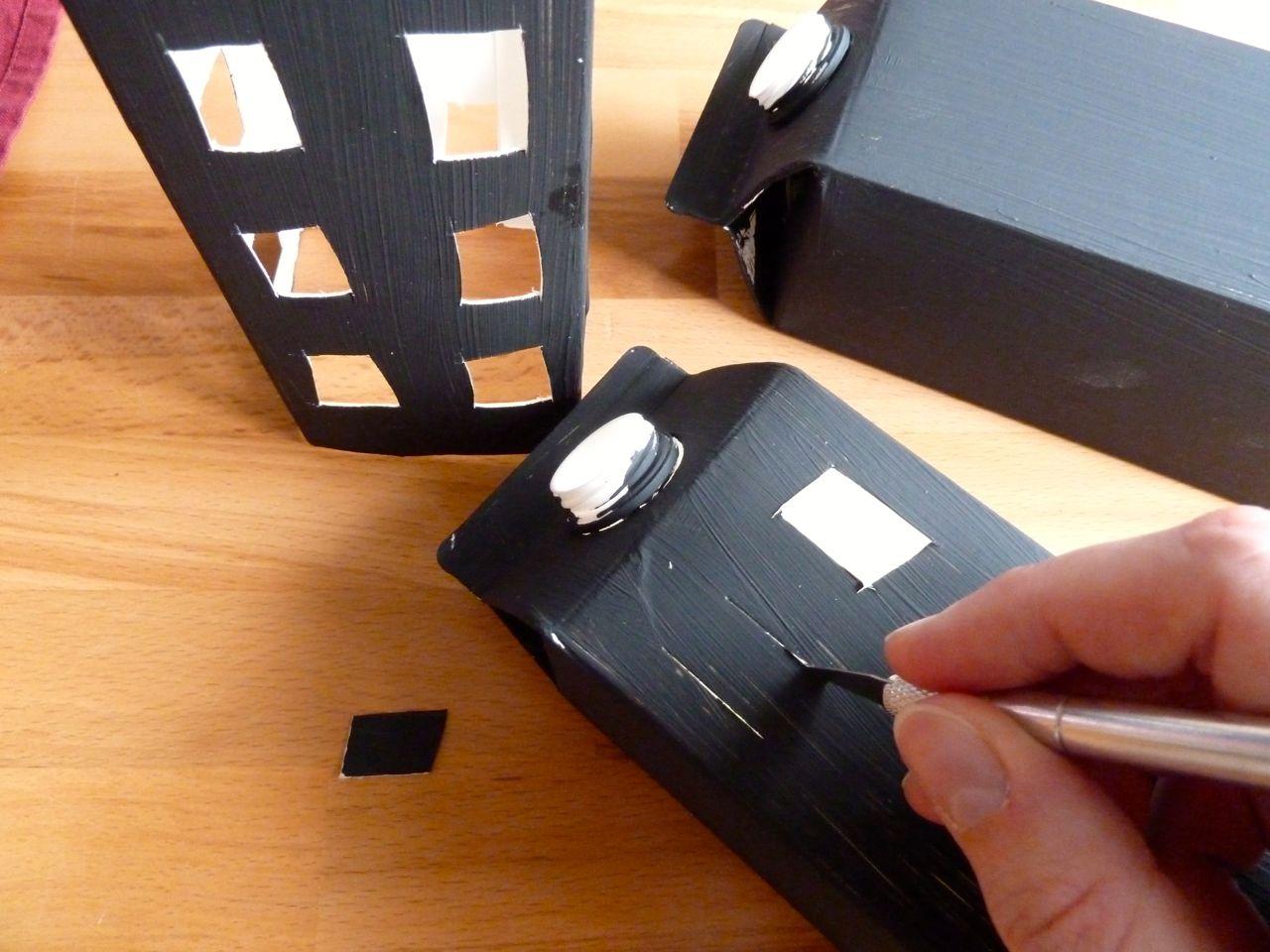 frische brise laternen aus tetrapaks. Black Bedroom Furniture Sets. Home Design Ideas