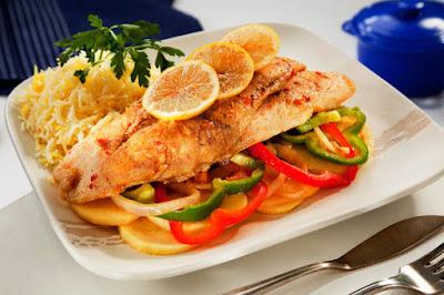 صينية السمك بالخضروات - مطبخ منال العالم