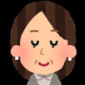 おばさんの顔アイコン 5