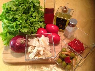 Ensalada de bacalao, Ingredientes