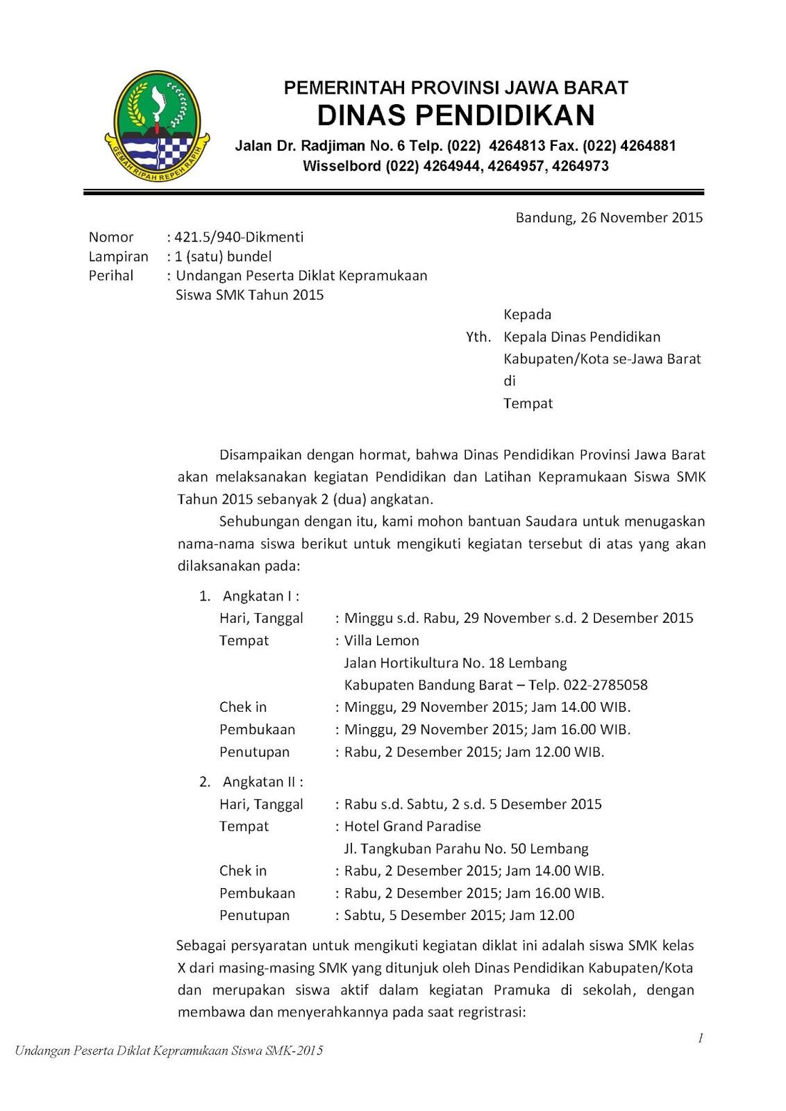 Contoh Surat Undangan Ldks Suratmenyurat Net