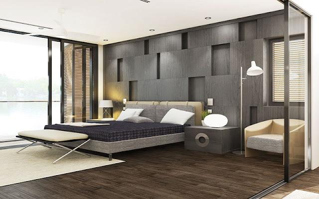 Phòng ngủ master căn hộ River City