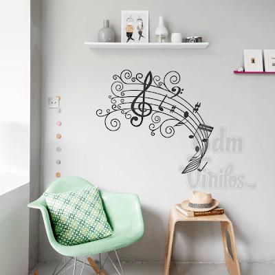 vinilo decorativo, pentagrama musical