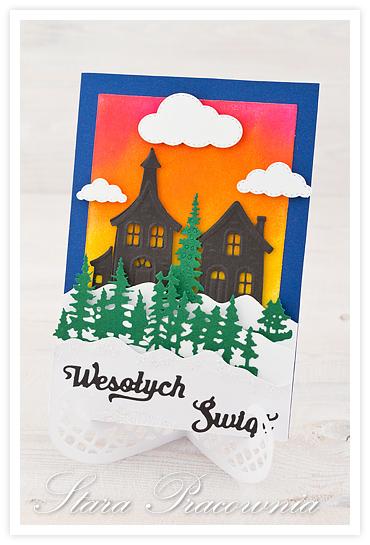 kartki ręcznie robione, kartka ręcznie robiona, handmade cards, kartka świąteczna, big shot, distress ink