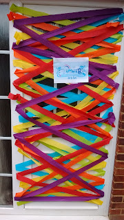 Crepe Paper Summer Door
