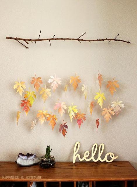 bricolage d'automne feuilles mobile