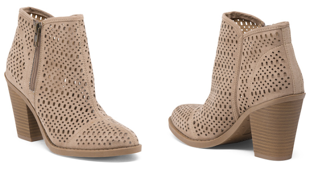 Esprit Perforated Booties $30 (reg $55)
