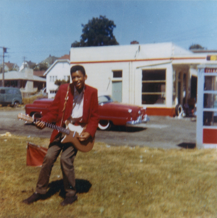jimi hendrix posing with one of his first electric guitars in seattle wa circa 1960 vintage. Black Bedroom Furniture Sets. Home Design Ideas