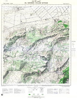 Carte Topographique AL_KHEMIS_OULAD_AYAD Morocco 50000 (50k) Topographic map free download