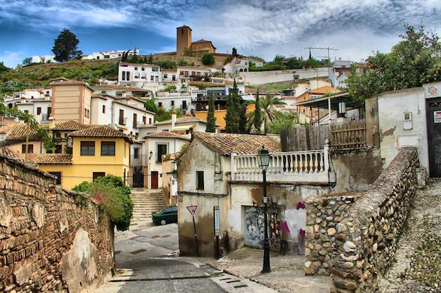 Bairro de Albaicín em Granada