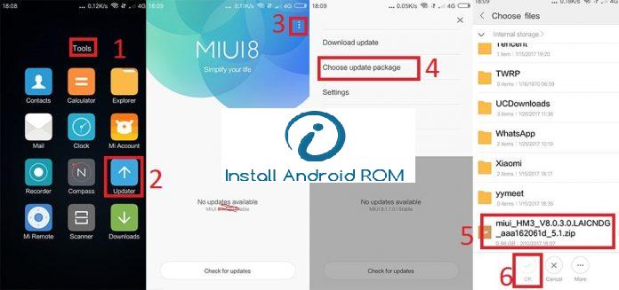 Install ROM On Xiaomi Via Updater