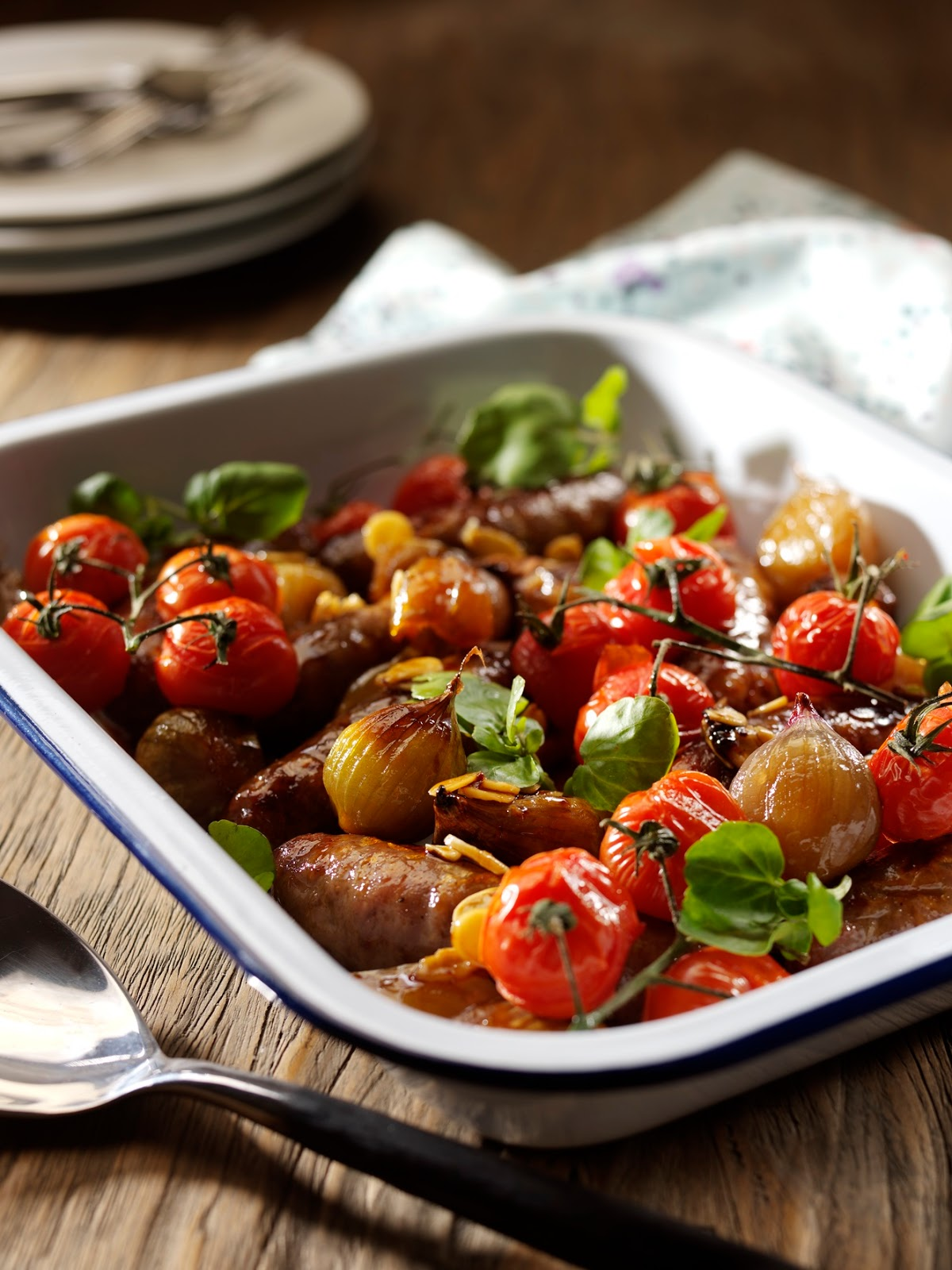 How To Make Honey And Soy Glazed Roasted Shallots And Sausages