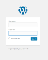 Sample WordPress Login Screen