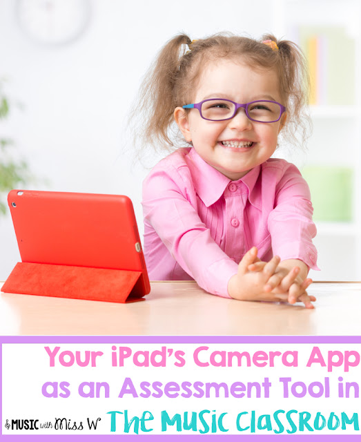 Your iPad's camera app can serve as an easy assessment tool for your music classroom! You don't even need a full set for this to work.