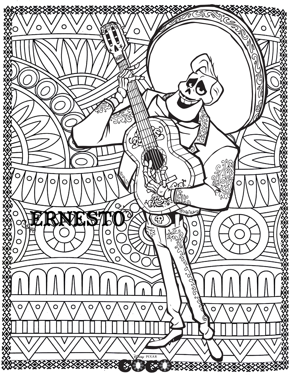 Coco Coloring Pages Coco Movie Coloring Mandala Coloring Pages