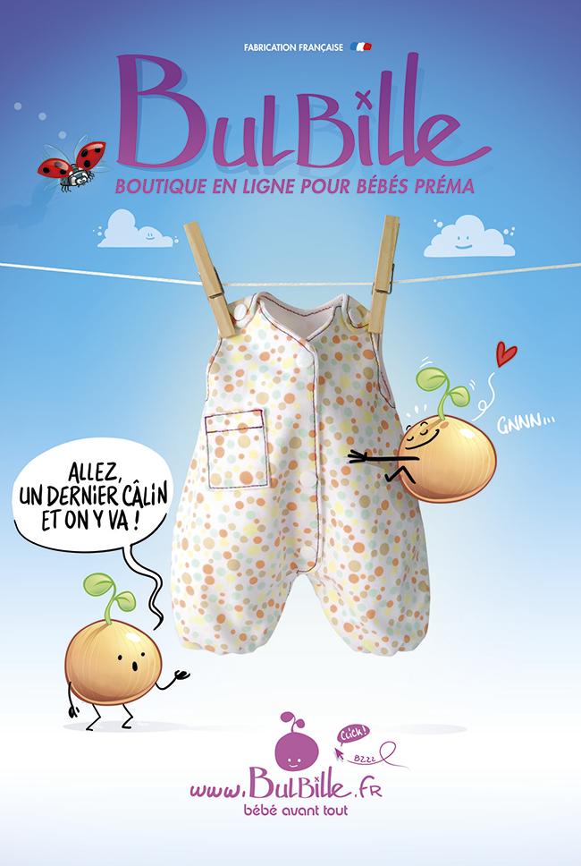 Bulbille - affiche pour promouvoir la boutique en ligne bulbille.fr