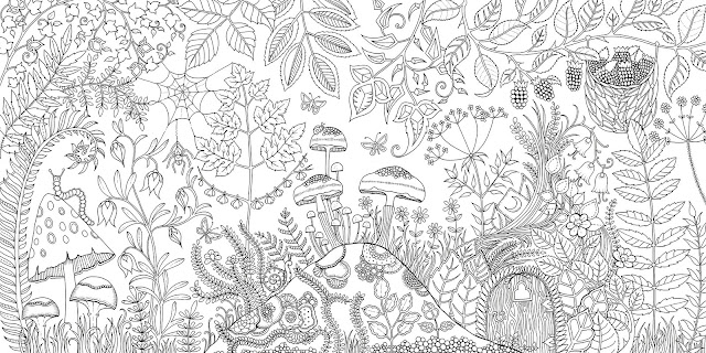 Enchanted forest sample page by johanna basford