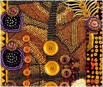 Beads on dress