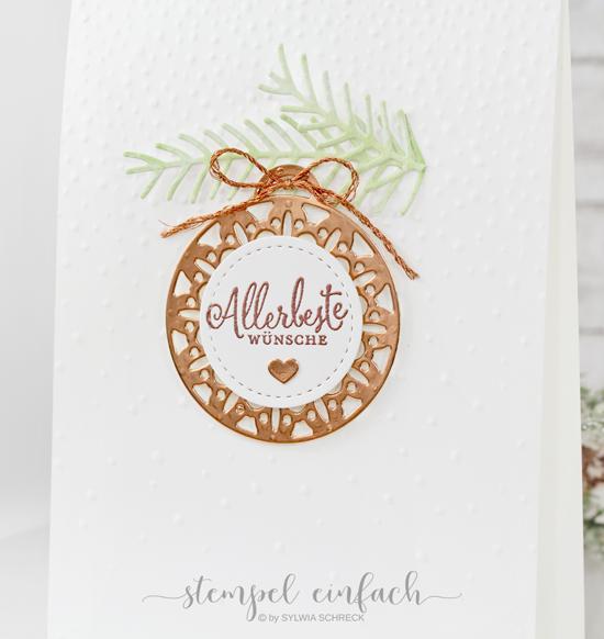 Weihnachtskarte Allerbeste Wünsche