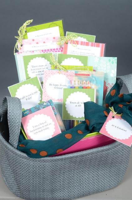 40th Birthday Book Basket FREE Printables