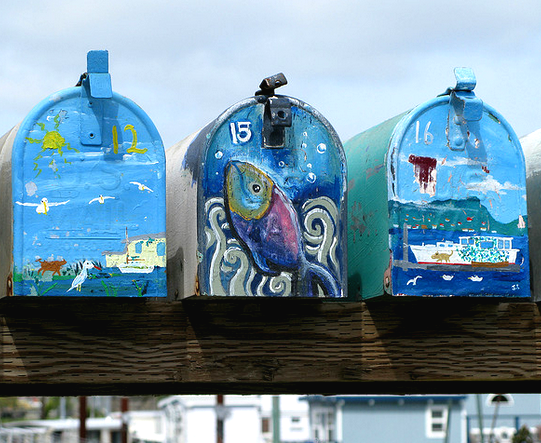 houseboat art mailboxes