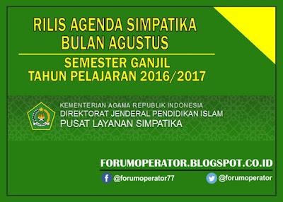 Rilis Jadwal Agenda Simpatika Bulan Agustus Semester Ganjil Tahun 2016-2017
