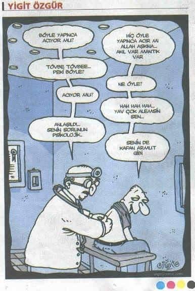 sorun psikolojik karikatür