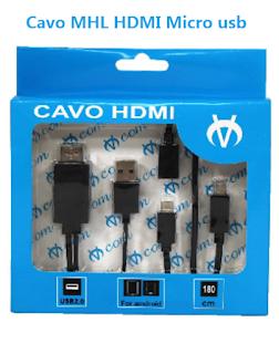 MHL CAVO MICRO USB HDMI TV VCOM