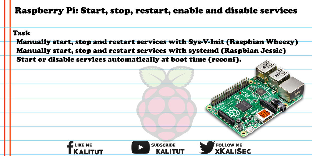 Manage Raspberry Pi services