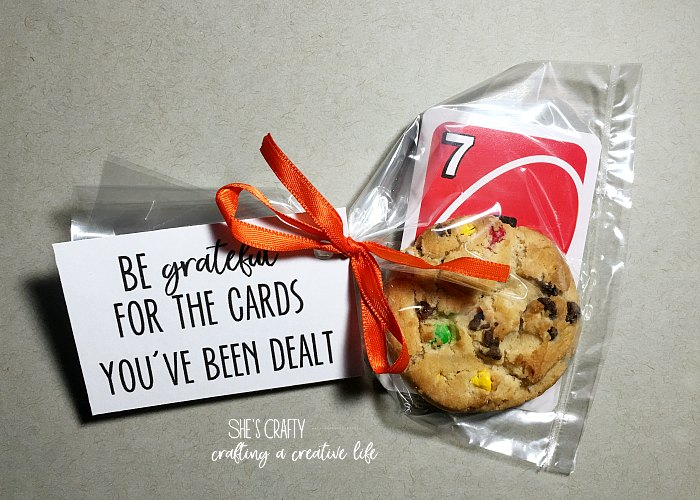 be grateful, cards, cookies, RS handout, relief society