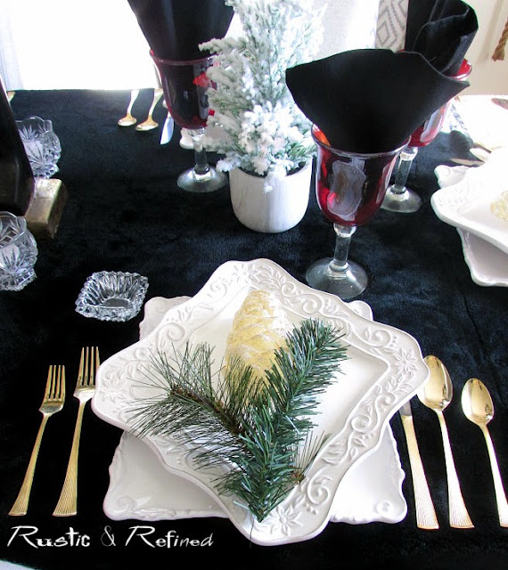 Modern Christmas Table setting