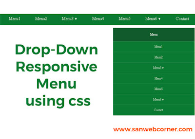 Responsive Dropdown Menu using only css