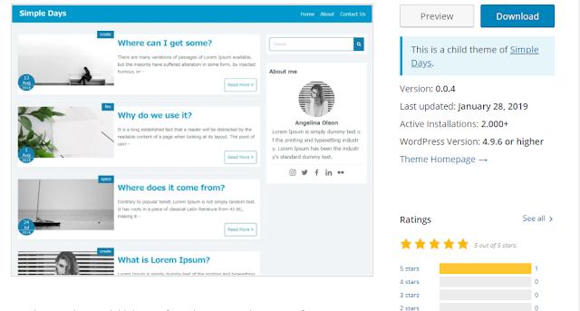 wordpress simple days plus teması